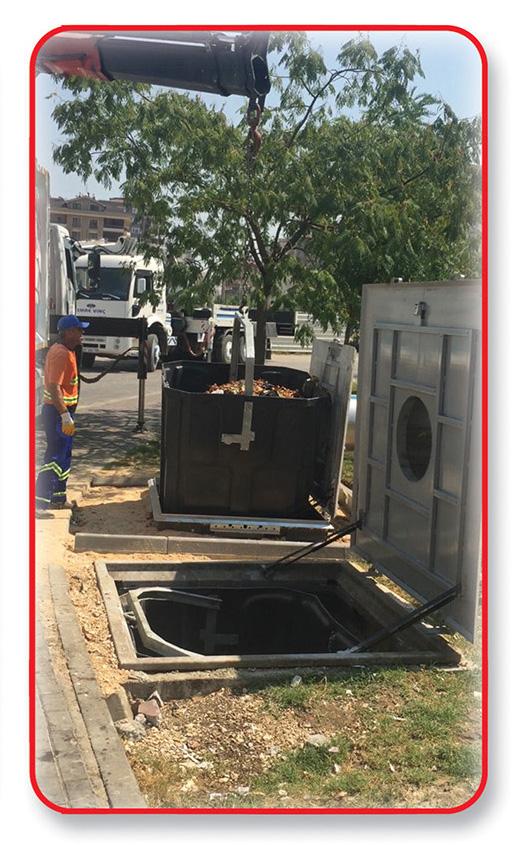 yeraltı çöp konteyneri, yeraltı çöp konteyneri bursa, yeraltı çöp konteyner sistemi